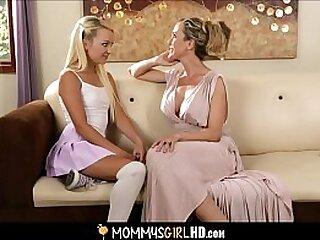 Young Blonde Petite Hottie Carmen Callaway Shown Lesbian Sex My Her Hot MILF Stepmom Brandi Love