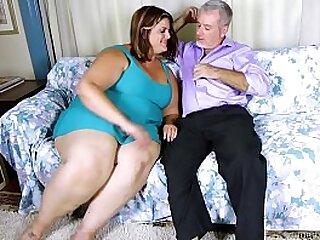 Beautiful big tits BBW loves fucking and sucking cock