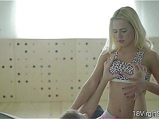 18 Virgin Sex -Stunning Caroll having sex on camera