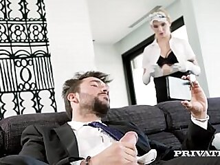 Little Teen Maid Mia Navarro pleasures her Master's hard dick, dusting, cleaning & polishing his pole until it's bright & shiny & shooting cum onto Mia's face! Full Flick & 100's More at Private.com!