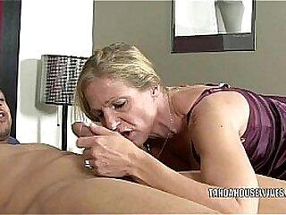 Mature slut Violet fucks a black dude