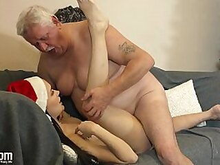 Sexy young girl gets hardcore fucked by old police officer