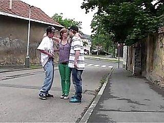 y. girl Alexis Crystal PUBLIC street gangbang threesome fucking