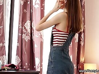 Teeny Lovers - She is not shy to help her handsome boyfriend undress