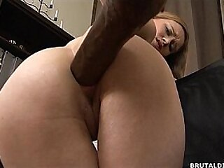 Innocent brunette has her ass bruised by b. dildos