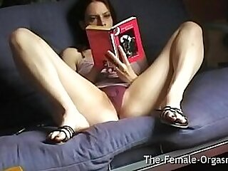 Home Alone Selfie Reading Erotica and Masturbating